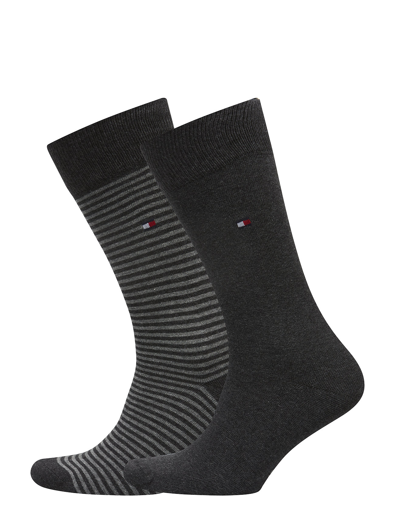 Tommy Hilfiger TH MEN SMALL STRIPE SOCK 2P - ANTHRACITE