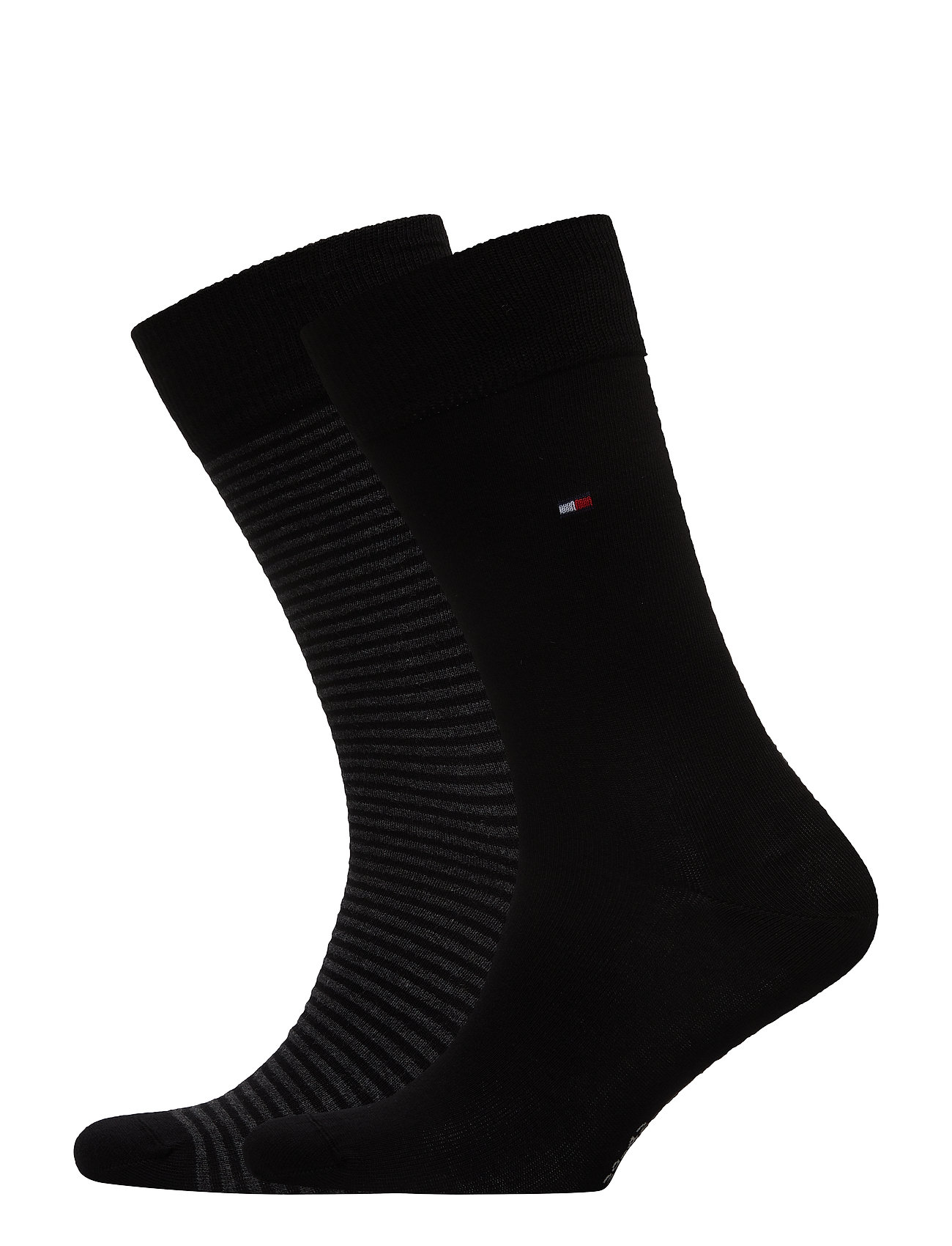 Tommy Hilfiger TH MEN SMALL STRIPE SOCK 2P - BLACK