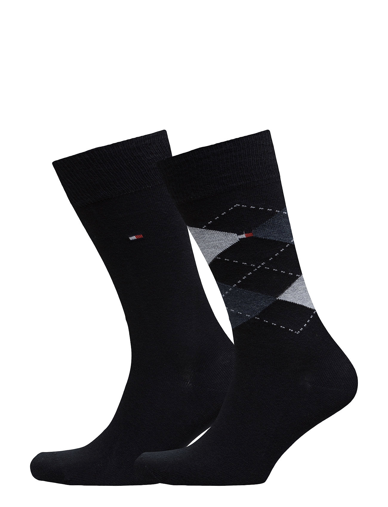 Tommy Hilfiger TH Men sock check 2-pack - DARK NAVY