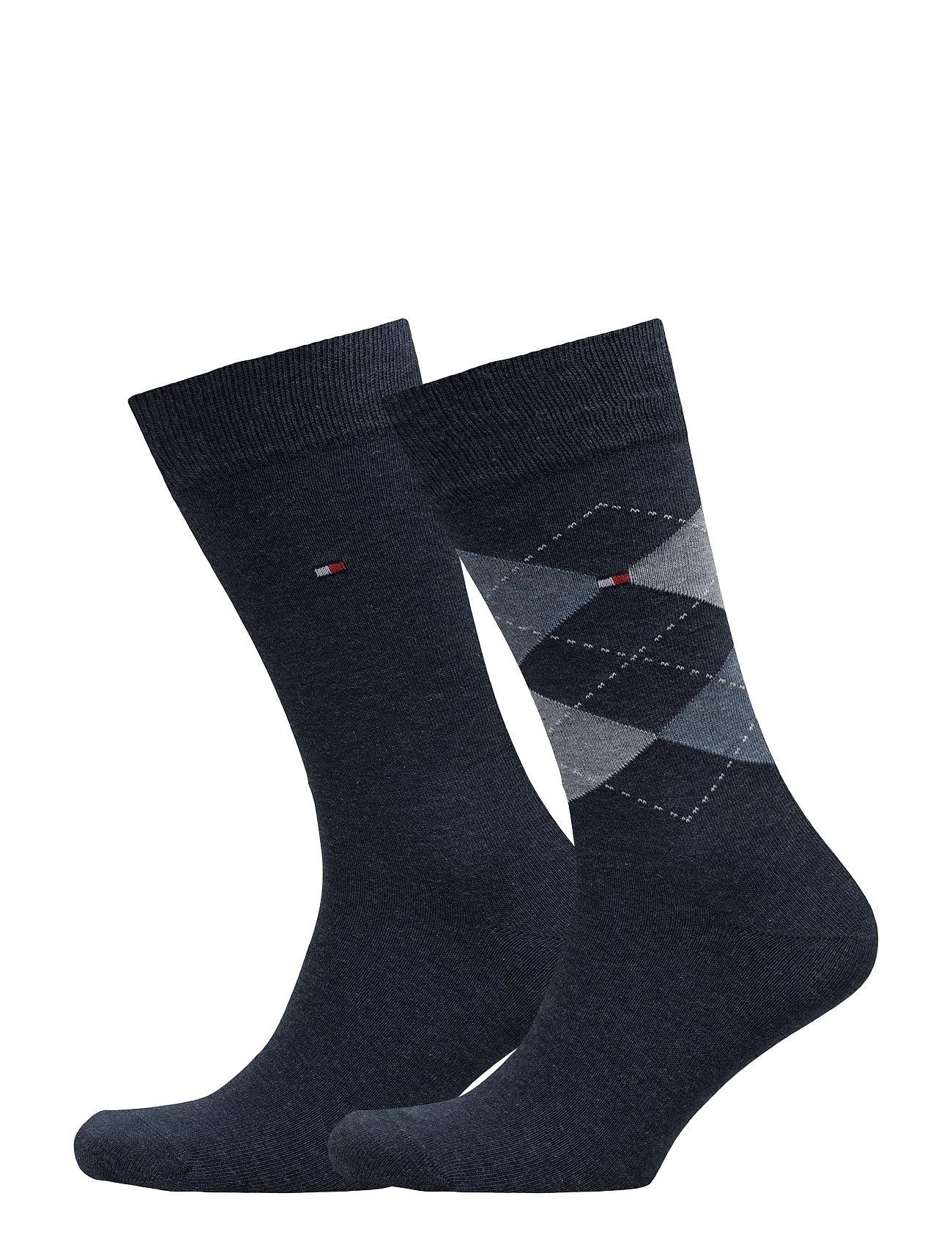Tommy Hilfiger TH Men sock check 2-pack - JEANS