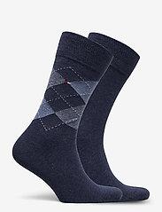 Tommy Hilfiger - TH MEN SOCK CHECK 2P - vanliga strumpor - jeans - 1