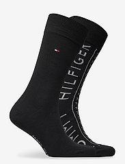 Tommy Hilfiger - TH MEN SOCK 2P HILFIGER - vanliga strumpor - black - 1