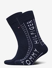 Tommy Hilfiger - TH MEN SOCK 2P HILFIGER - vanliga strumpor - navy - 0