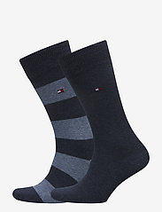 Tommy Hilfiger - TH MEN RUGBY SOCK 2P - vanliga strumpor - jeans - 0