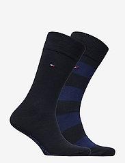Tommy Hilfiger - TH MEN RUGBY SOCK 2P - vanliga strumpor - tommy blue - 1
