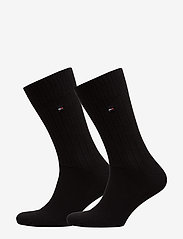 Tommy Hilfiger - TH MEN TRUE AMERICA SOCK 2P - vanlige sokker - black - 0