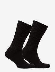 Tommy Hilfiger - TH MEN TRUE AMERICA SOCK 2P - vanlige sokker - black - 1