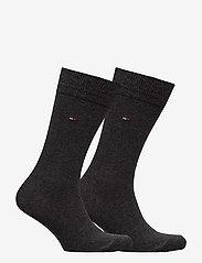 Tommy Hilfiger - TH MEN SOCK CLASSIC 2P - tavalliset sukat - anthracite melange - 1