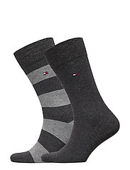 TH MEN RUGBY SOCK 2P - ANTHRACITE