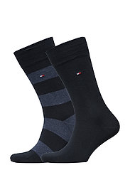 TH MEN RUGBY SOCK 2P - DARK NAVY