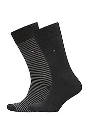 TH MEN SMALL STRIPE SOCK 2P - ANTHRACITE