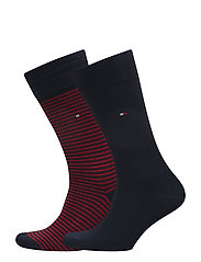 TH MEN SMALL STRIPE SOCK 2P - TOMMY ORIGINAL