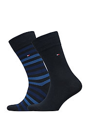 TH MEN DUO STRIPE SOCK 2P - DARK NAVY