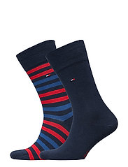 TH MEN DUO STRIPE SOCK 2P - TOMMY ORIGINAL