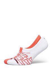 TH JEANS FOOTIE 2P HANDWRITE - CORAL