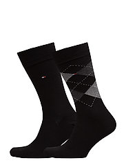 TH Men sock check 2-pack - BLACK