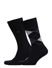 TH Men sock check 2-pack - DARK NAVY