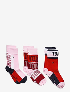 TH KIDS SOCK 3P TOMMY GIFTBOX - sokker - rouge red