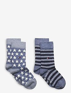 TH KIDS SOCK 2P STARS AND STRIPES - strumpor - jeans