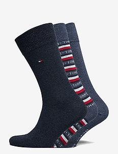 TH MEN SOCK 3P LOGO GIFTBOX - vanlige sokker - jeans