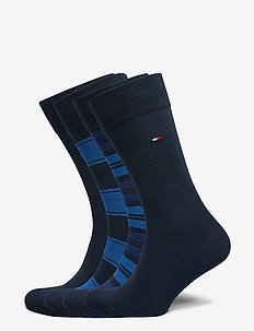 TH MEN SOCK 4P STRIPE TIN GIFTBOX - reguläre strümpfe - dark navy