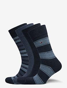 TH MEN SOCK 4P STRIPE TIN GIFTBOX - vanlige sokker - jeans