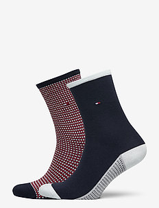 TH WOMEN SOCK 2P HONEYCOMB - socken - navy / red