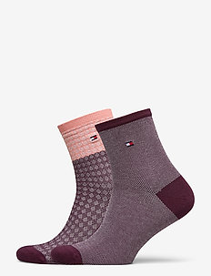 TH WOMEN SHORT SOCK 2P REFINED ARGY - sokker - winetasting