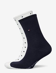 TH WOMEN SOCK DOT 2P - sockor - off white