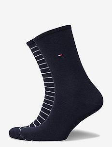 TH WOMEN SOCK 2P SMALL STRIPE - sockor - midnight blue