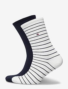 TH WOMEN SOCK 2P SMALL STRIPE - sockor - off white