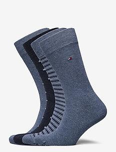 TH MEN SOCK 4P TIN GIFTBOX STRIPE - vanliga strumpor - jeans