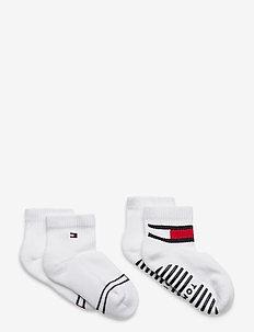 TH BABY SOCK 2P FLAG SOCK - strumpor - white