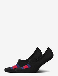 TH MEN FOOTIE 2P FLAG - ankelstrumpor - black