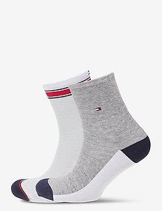 TH WOMEN SHORT SOCK 2P TRANSLUCENT - regulære sokker - white
