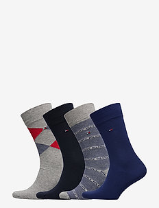 TH MEN SOCK 4P GIFTBOX ARGYLE - TOMMY ORIGINAL