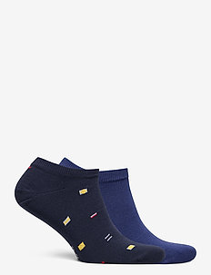 TH MEN SNEAKER 2P SMALL FLAGS - nilkkasukat - dark navy