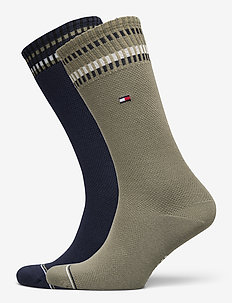 TH MEN SOCK 2P NEW PETE - tavalliset sukat - olive