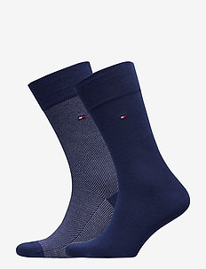 TH MEN SOCK 2P MICRO STRIPE - BRIGHT BLUE