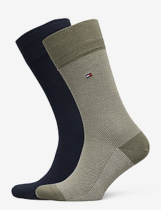 TH MEN SOCK 2P MICRO STRIPE - tavalliset sukat - olive