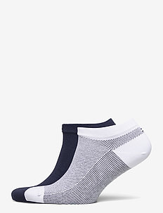 TH MEN SNEAKER 2P MICRO STRIPE - nilkkasukat - white