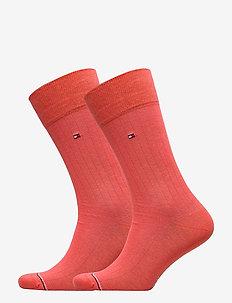 TH MEN SOCK 2P RIB - vanlige sokker - coral