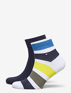 TH MEN QUARTER 2P COLORBLOCK STRIPE - nilkkasukat - olive
