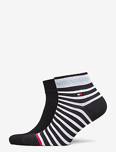 TH MEN QUARTER 2P COLLEGIATE STRIPE - tavalliset sukat - black