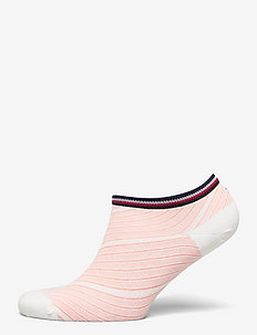 TH WOMEN SNEAKER 2P REFINED BIAS - footies - peach / coral