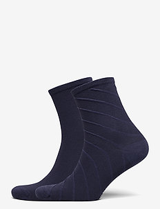 TH WOMEN SHORT SOCK 2P OPEN BIAS - strumpor - midnight blue
