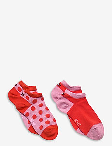 TH KIDS SNEAKER 2P GIRLS DOT - sokker - pink / red