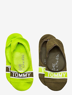 TH KIDS  FOOTIE 2P TOMMY - sokker - olive combo