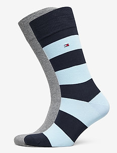TH MEN RUGBY SOCK 2P - tavalliset sukat - dark blue combo