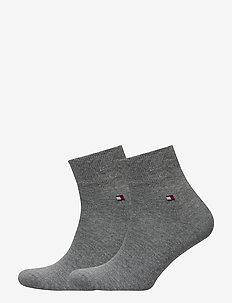 TH MEN QUARTER 2P - knöchelsocken - middle grey melange